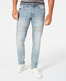 Men's Slim-Fit Moto Jeans