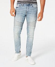 GUESS Men's Slim-Fit Moto Jeans
