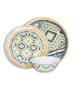 222 Fifth Porto Santo 12 Piece Melamine Dinnerware Set