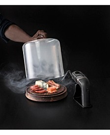 Crafthouse by Glass Smoking Cloche with Handheld Smoker & Chips
