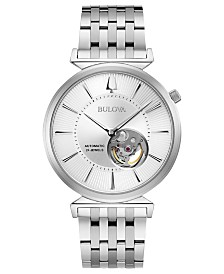 Bulova Men's Automatic Regatta Stainless Steel Bracelet Watch 40mm