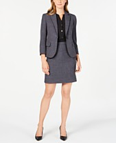 23e3a142765c Anne Klein Twill Jacket, Shirred-Seam Blouse & Twill Skirt