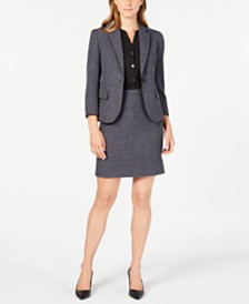 Anne Klein Twill Jacket, Shirred-Seam Blouse & Twill Skirt