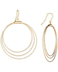 Multi-Circle Drop Earrings in 14k Gold-Plated Sterling Silver