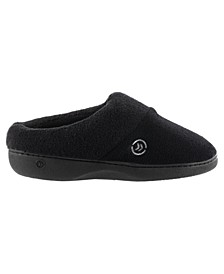 Women's Micro Terry Sport Hoodback Slippers