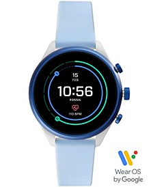 Women's Sport HR Light Blue Silicone Strap Smart Watch 41mm, Powered by Wear OS by Google™