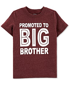 Toddler Boys Big Brother-Print T-Shirt
