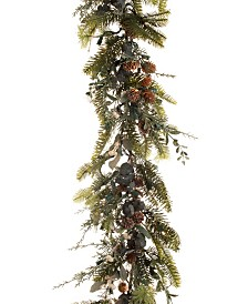 Village Lighting 9' Pre-Lit LED Garland - Rustic White Berry