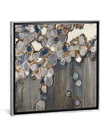 "Indigo Oyster Shells by Liz Jardine Gallery-Wrapped Canvas Print - 37"" x 37"" x 0.75"""