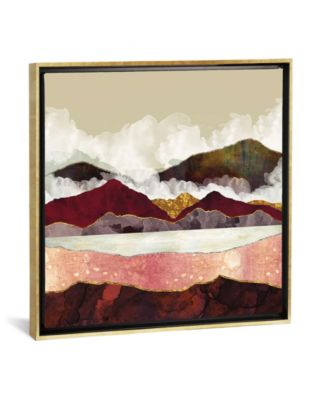 """Melon Mountains by Spacefrog Designs Gallery-Wrapped Canvas Print - 37"""" x 37"""" x 0.75"""""""
