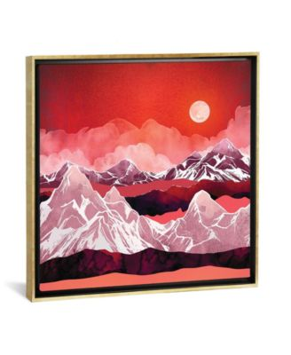 """Scarlet Glow by Spacefrog Designs Gallery-Wrapped Canvas Print - 18"""" x 18"""" x 0.75"""""""