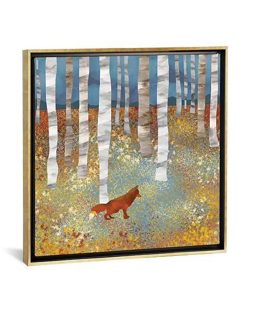 """iCanvas Autumn Fox by Spacefrog Designs Gallery-Wrapped Canvas Print - 26"""" x 26"""" x 0.75"""""""