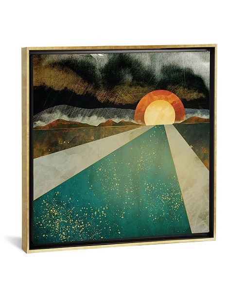 """iCanvas Retro Sunset by Spacefrog Designs Gallery-Wrapped Canvas Print - 18"""" x 18"""" x 0.75"""""""