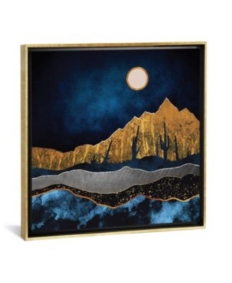 """Midnight Desert by Spacefrog Designs Gallery-Wrapped Canvas Print - 37"""" x 37"""" x 0.75"""""""