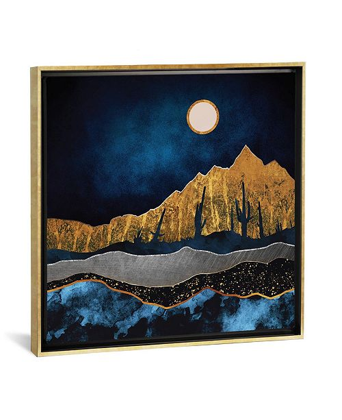 """iCanvas Midnight Desert by Spacefrog Designs Gallery-Wrapped Canvas Print - 37"""" x 37"""" x 0.75"""""""