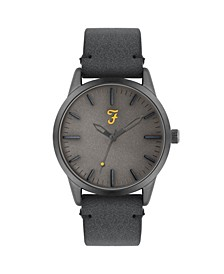 Men's the Classic Collection Blue Leather Strap Watch 42mm