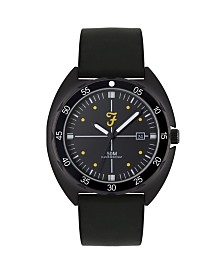 Farah Men's the Sport Collection Black Silicone Strap Watch 43mm
