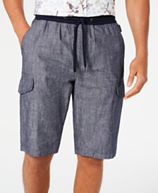 Sean John Men's Chambray Cargo Shorts