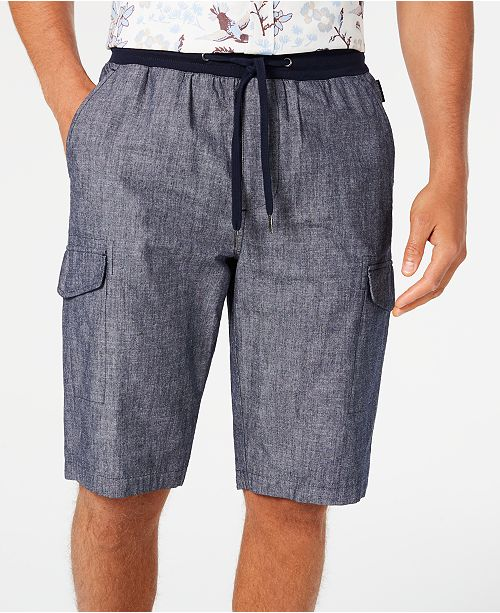 Sean John Men's Chambray Cargo Shorts