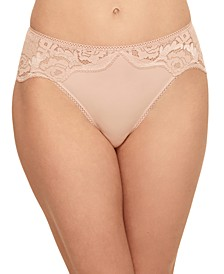 Women's Style Standard High-Cut Lace Trim Brief 841347