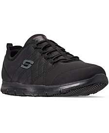 Women's Work Relaxed Fit: Ghenter - Srelt Slip Resistant Wide Width Athletic Work Sneakers from Finish Line