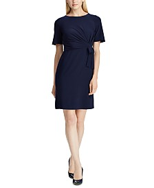 American Living Self-Tie Short-Sleeve Jersey Dress