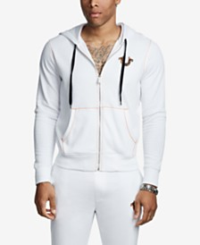 True Religion Men's Big T Horseshoe Zip Up Hoodie