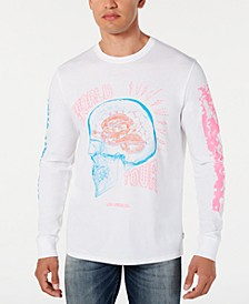 Men's Abstract Skull Long-Sleeve T-Shirt