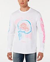 7ea97af1698d GUESS Men's Abstract Skull Long-Sleeve T-Shirt