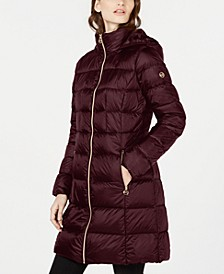 Hooded Long Packable Down Puffer Coat, Created For Macy's