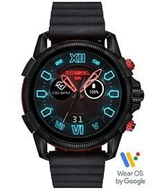 Men's Full Guard 2.5 Black Silicone Strap Touchscreen Smart Watch 48mm, Powered by Wear OS by Google™