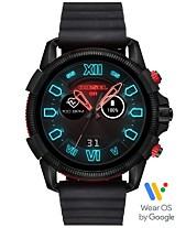 e3e94f603f50 Diesel Men s Full Guard 2.5 Black Silicone Strap Touchscreen Smart Watch  48mm