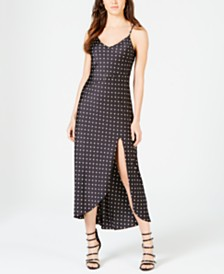 GUESS Cemona Polka-Dot Slip Dress