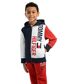 Tommy Hilfiger Toddler Boys Lawrence Colorblocked Full-Zip Fleece Logo Hoodie