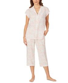 Eileen West Floral-Print Capri Pajama Set