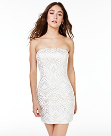 Juniors' Hardware Strapless Tube Dress