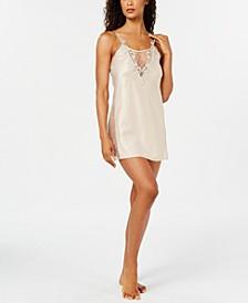 Stella Lace-Trim Chemise Nightgown