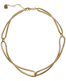 "Gold-Tone Long-Link Collar Necklace, 14"" + 2"" extender"