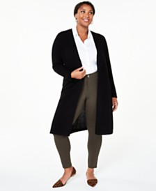 Charter Club Plus Size Cashmere Maxi Duster Cardigan, Created for Macy's
