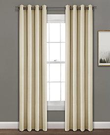 """Faux Linen 84""""x52"""" Absolute Blackout Single Window Panel"""