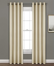 "Faux Linen 84""x52"" Absolute Blackout Single Window Panel"