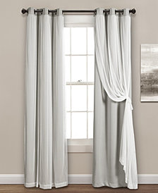 Solid and Sheer Layered Blackout Curtain Collection