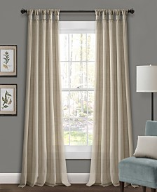 "Burlap Knotted Tab Top 95""x45"" Window Panel Set"
