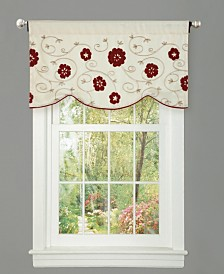 "Royal Embrace 42""x18"" Single Floral Valance"