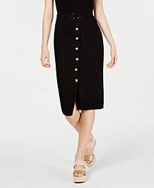 BCX Juniors' Belted Midi Skirt