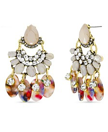 Catherine Malandrino Women's Rhinestone Chandelier Style Earrings