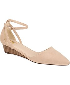 Journee Collection Women's Arkie Sliver Wedges