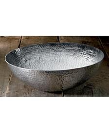 "KINDWER 20"" Large Hammered Aluminum Bowl"