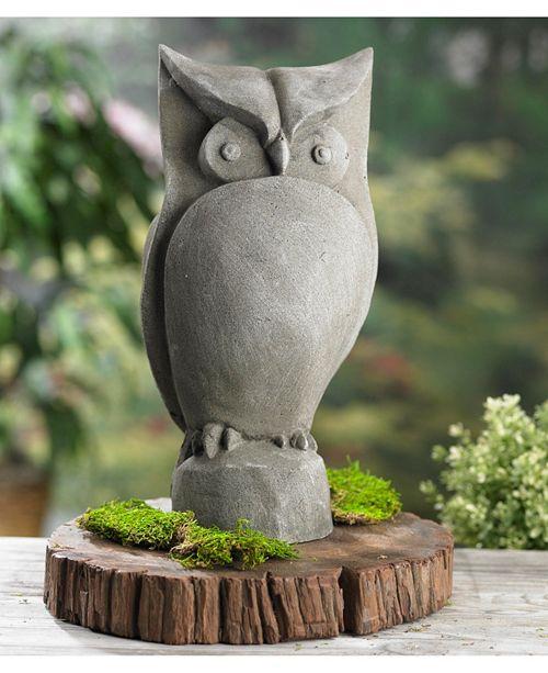 """St. Croix KINDWER 15"""" Garden Owl Statue"""