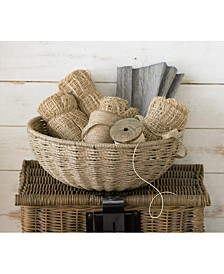 "KINDWER 14"" Woven Jute Rope Basket with Iron Frame"
